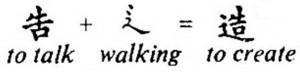 Hablar + Andar = Crear